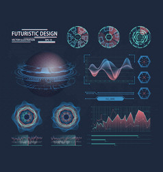 Infographic in futuristic design science theme vector