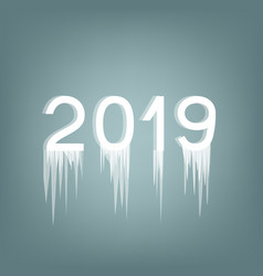 inscription 2019 ice number vector image