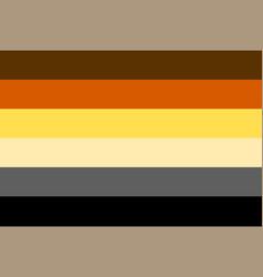 International bear brotherhood flag vector