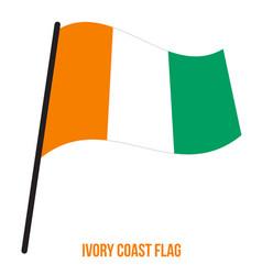 Ivory coast flag waving on white background vector