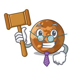 Judge plenet mercury isolated in a mascot vector