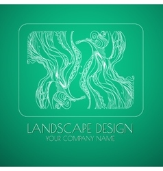 Landscape design emblem vector