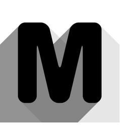 Letter m sign design template element vector