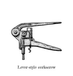 lever-style corkscrew vector image