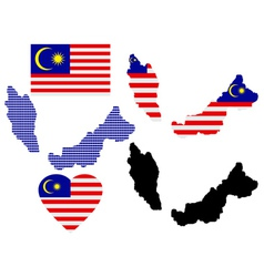 Maps of Malaysia vector