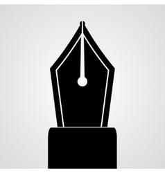 Pen tool silhouette vector