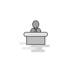 reception web icon flat line filled gray icon vector image