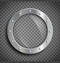 Round window porthole vector