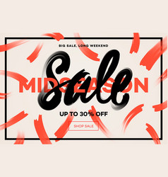 sale banner template midseason sale vector image