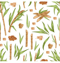 Seamless botanical pattern with piles and cubes vector