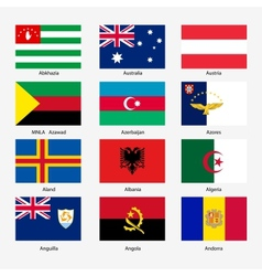 Set flags of world sovereign states n vector