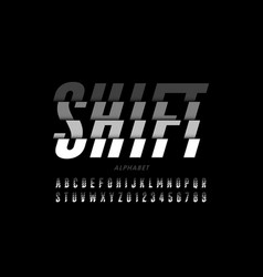 shifted style modern font vector image
