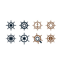 ship wheel graphic design template vector image