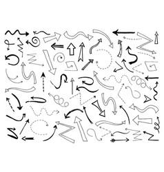 sketch arrows doodle black arrow direction line vector image