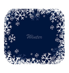 Snow square frame vector