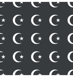 Straight black Turkey symbol pattern vector