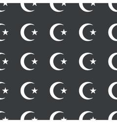Straight black Turkey symbol pattern vector image