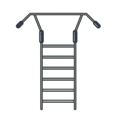 Swedish staircase sports gymnastics ladder or wall vector image