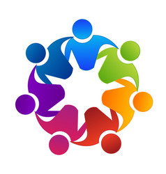 Teamwork group building and unity logo vector