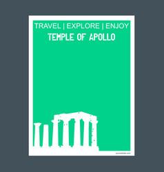 Temple apollo attica greece monument landmark vector