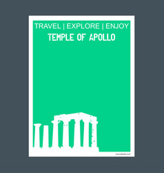 Temple of apollo attica greece monument landmark vector