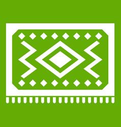 Turkish carpet icon green vector