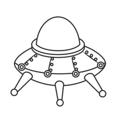 UFO kid toy icon vector image