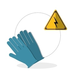 Under construction design supplies icon glove vector