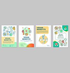 Vegan benefits brochure template layout vector