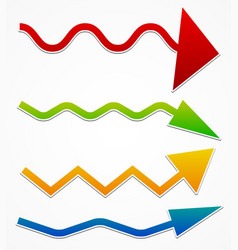 Wavy arrows vector