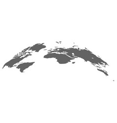 world map earth infographic earth planet vector image