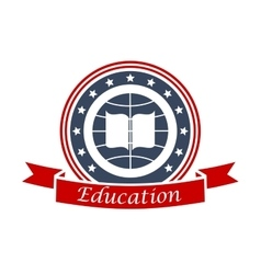 Education icon for university college academy vector image vector image