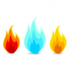 fire icons vector image vector image