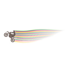 Freestyle motocross flying trick vector