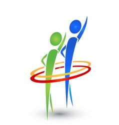 Hello people logo vector image