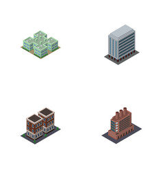 isometric architecture set of office clinic vector image vector image