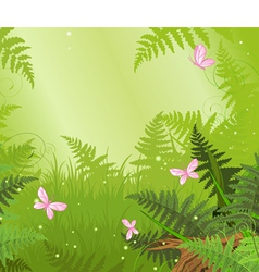 Magic forest landscape vector image