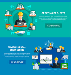 project development horizontal banners vector image