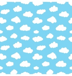 Cartoon Clouds Seamless Pattern vector image vector image