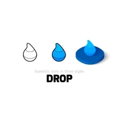 Drop icon in different style vector image