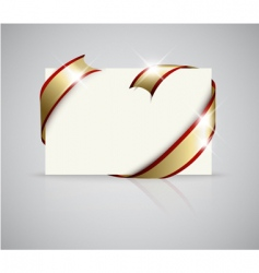 Gift card with ribbon vector