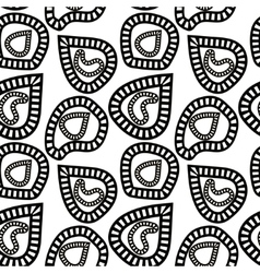 Monochrome pattern of abstract striped shapes vector image
