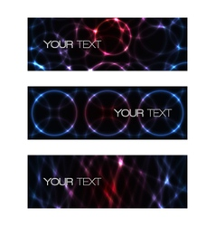 Set of abstract modern futuristic banners vector image