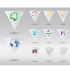 eco icons 2 vector image vector image