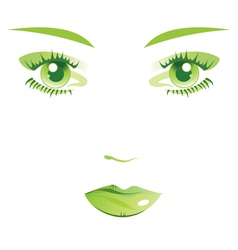 Face female isolated vector image vector image