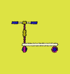 Kids bicycle vector