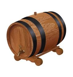 Realistic wooden barrel vector