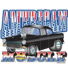 1955 American Chevy vector image vector image