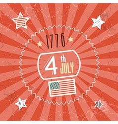 Fourth July 1776 Independence Day Red Retro vector image vector image