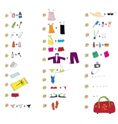 list of clothes for travel vector image vector image